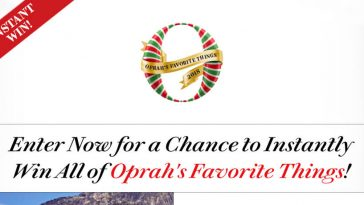 Oprah's Favorite Things 2018 Instant Win Sweepstakes