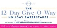 Oprah 12 Days of Christmas Sweepstakes 2019