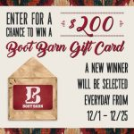Boot Barn Holiday Sweepstakes