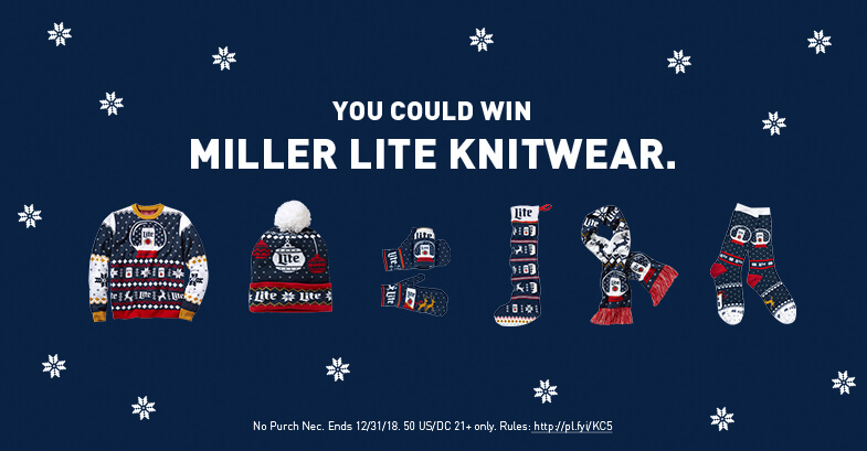 Miller Lite Christmas Ugly Sweater Instant Win Game - Santa's