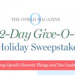 Oprah 12 Days of Christmas Sweepstakes