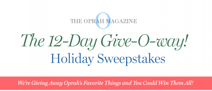 Oprah 12 Days of Christmas Sweepstakes