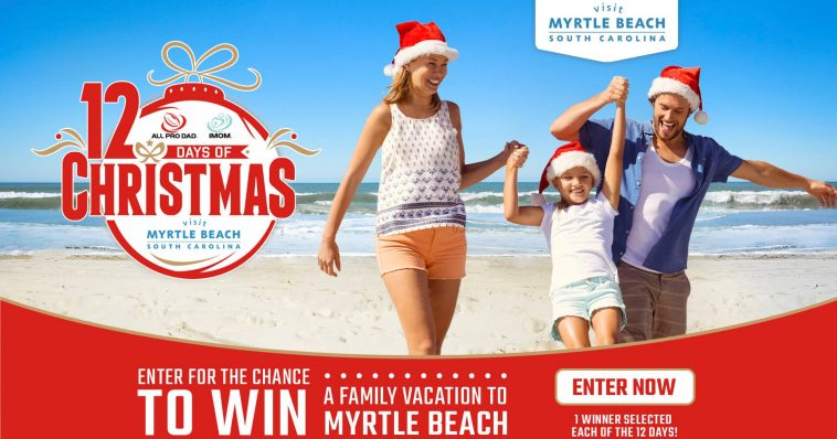 12 Days of Christmas Visit Myrtle Beach Sweepstakes 2019